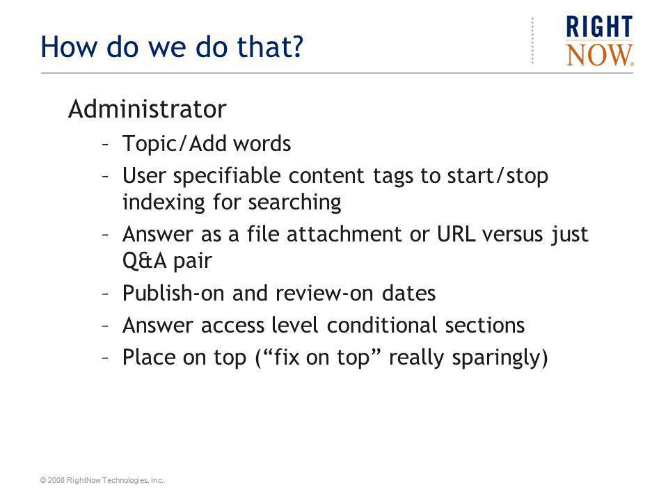 How do we do that Administrator Topic/Add words