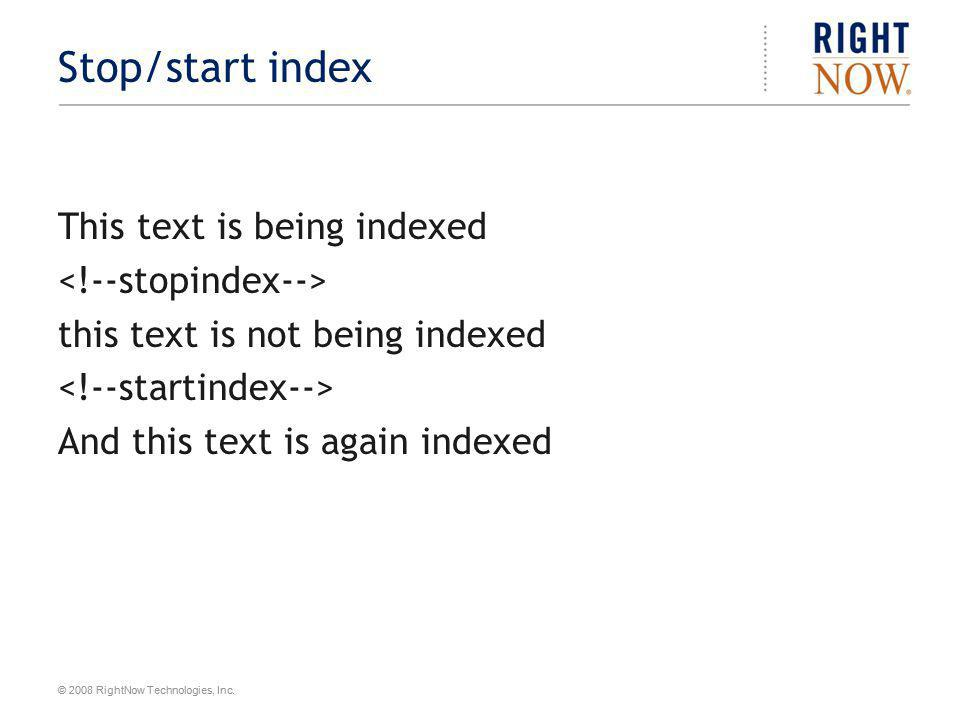 Stop/start index This text is being indexed <!--stopindex-->