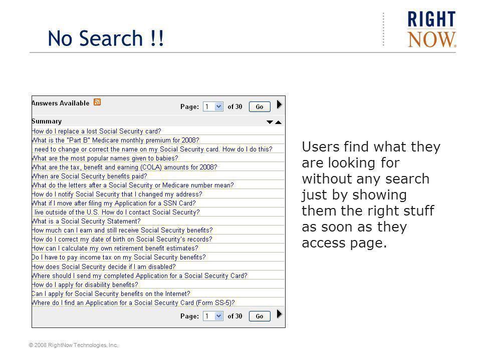 No Search !.
