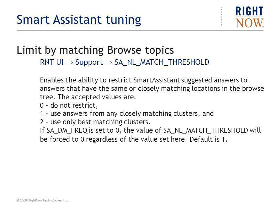 Smart Assistant tuning