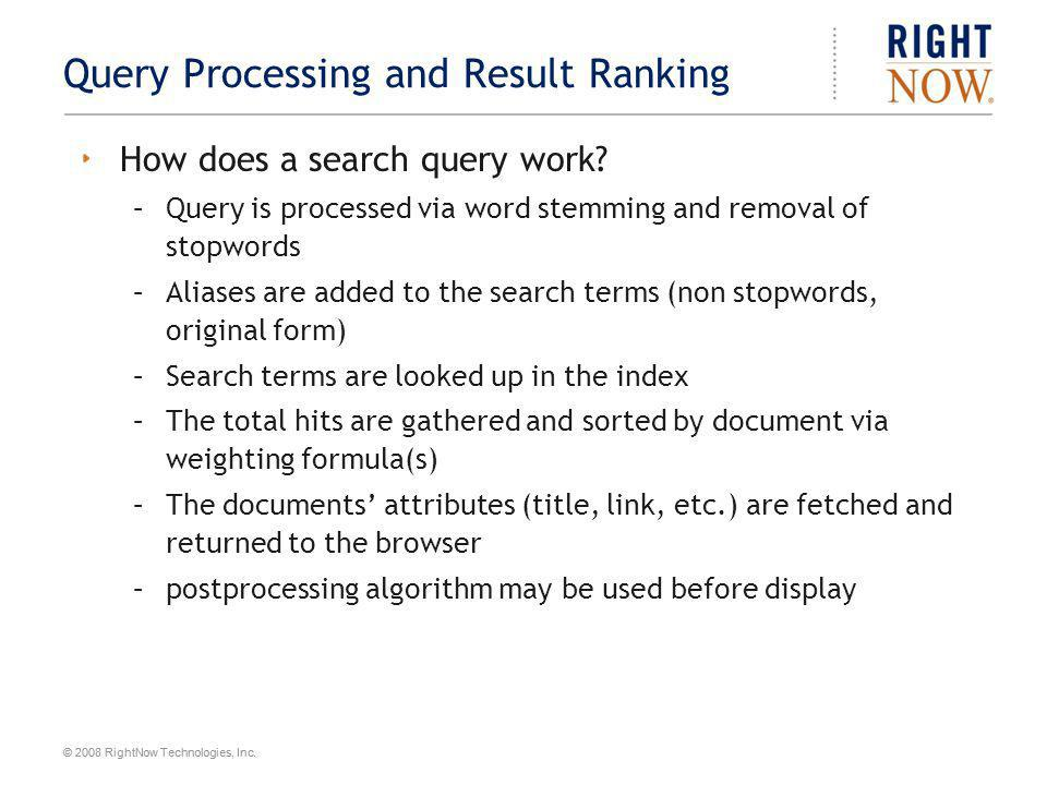 Query Processing and Result Ranking