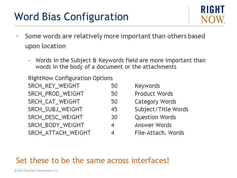Word Bias Configuration