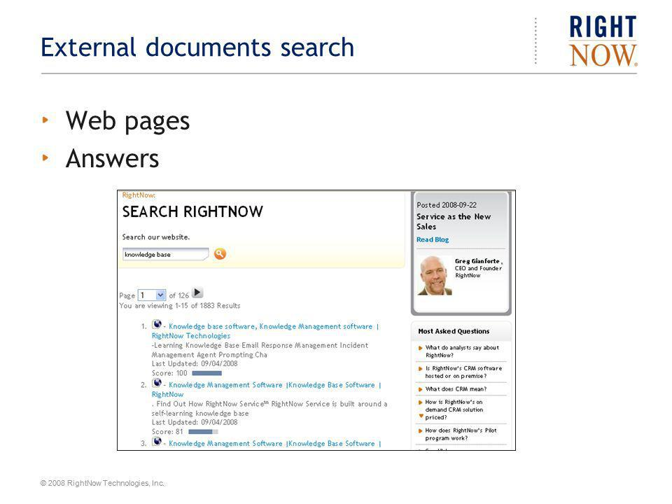 External documents search