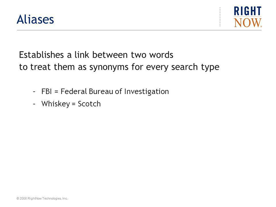 Aliases Establishes a link between two words