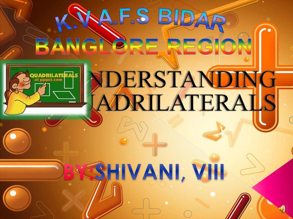 UNDERSTANDING QUADRILATERALS BY:SHIVANI, VIII