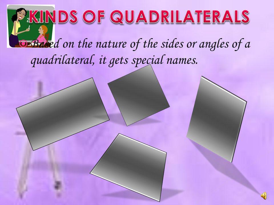KINDS OF QUADRILATERALS