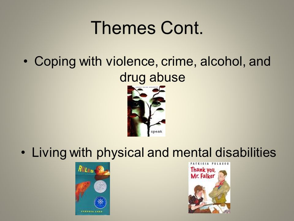 Coping with violence, crime, alcohol, and drug abuse