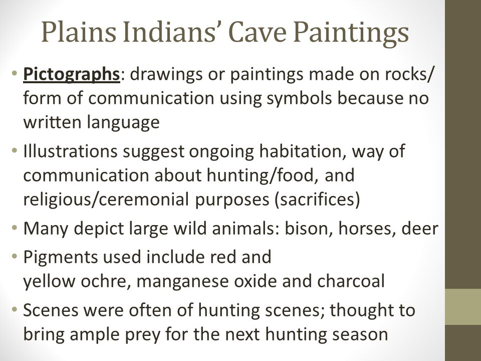 Plains Indians' Cave Paintings