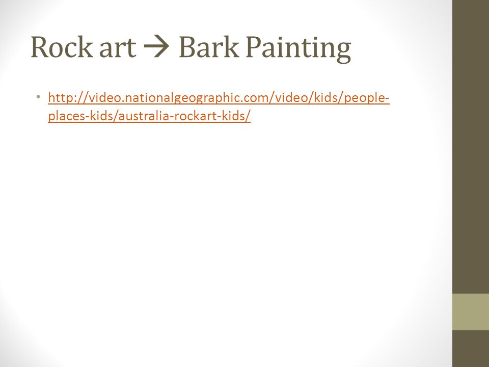 Rock art  Bark Painting
