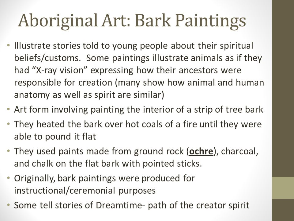 Aboriginal Art: Bark Paintings