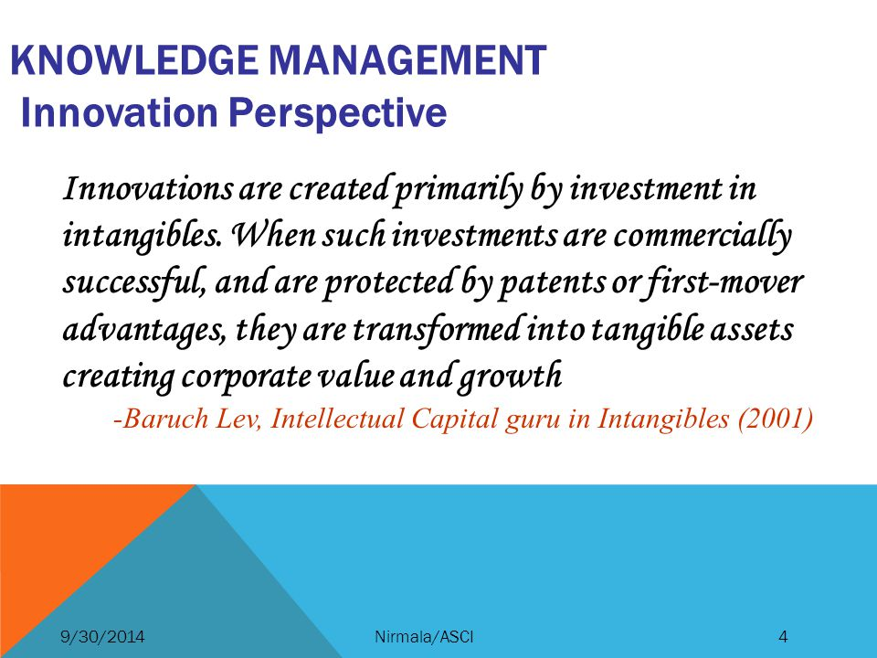 Knowledge Management Innovation Perspective