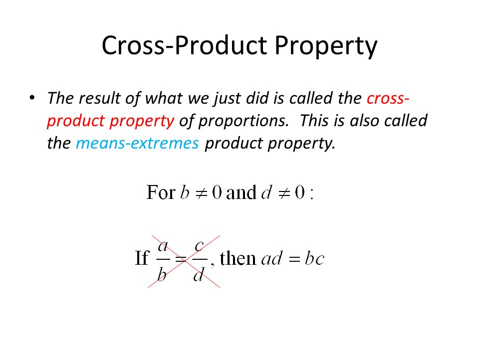 Cross-Product Property