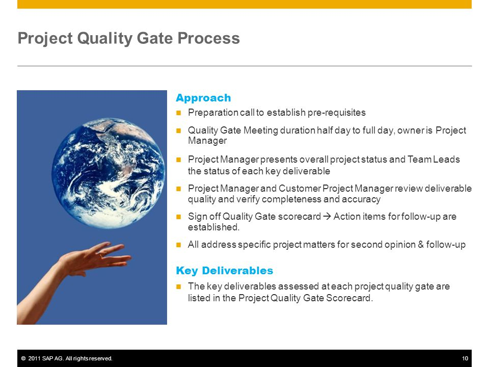 Project Quality Gate Process