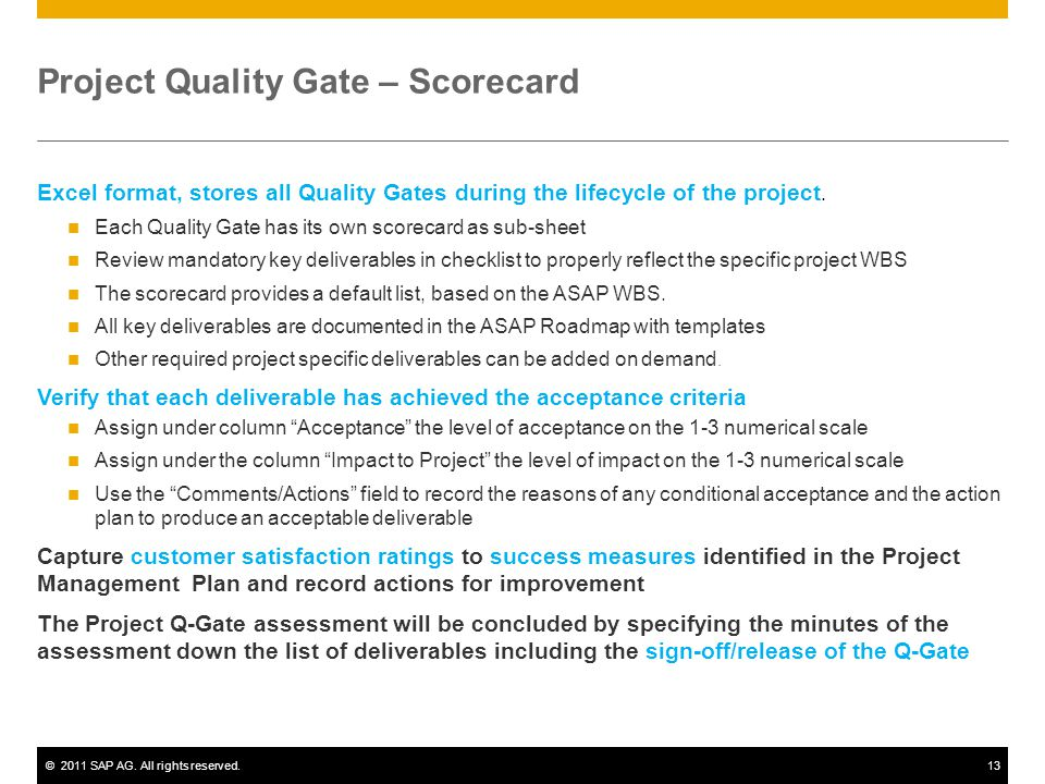 Quality Built In Into Projects Project Quality Gates  Ppt Video