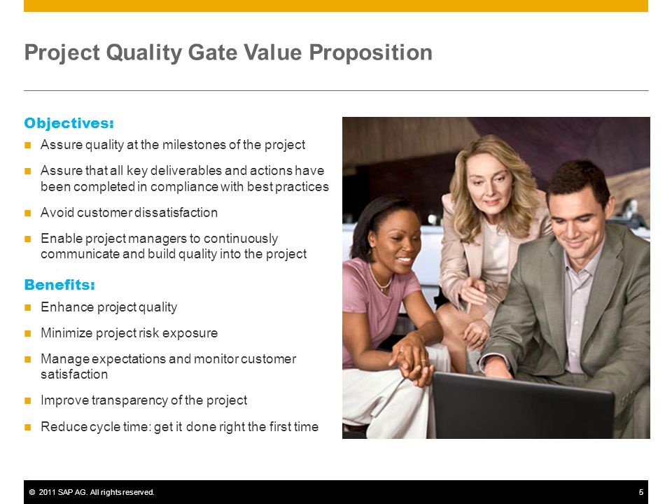 Project Quality Gate Value Proposition