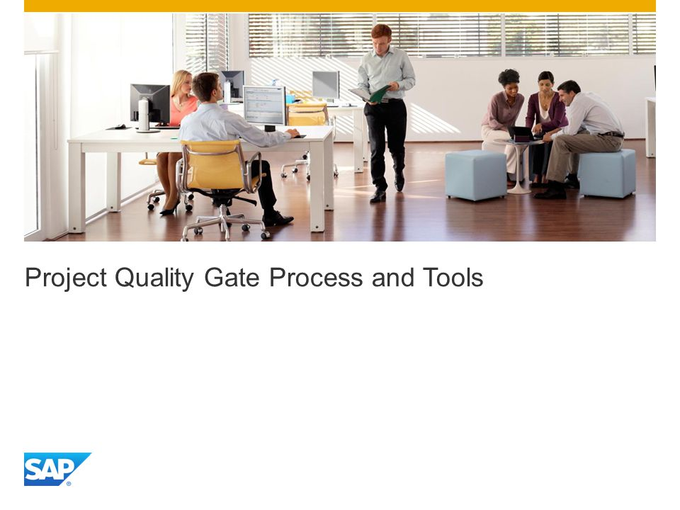 Project Quality Gate Process and Tools