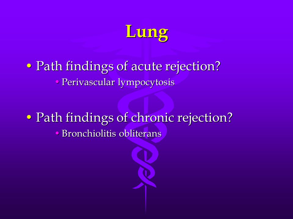 Lung Path findings of acute rejection