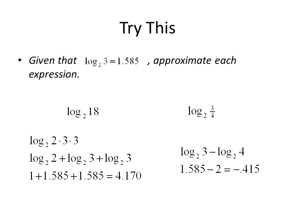 Try This Given that , approximate each expression.
