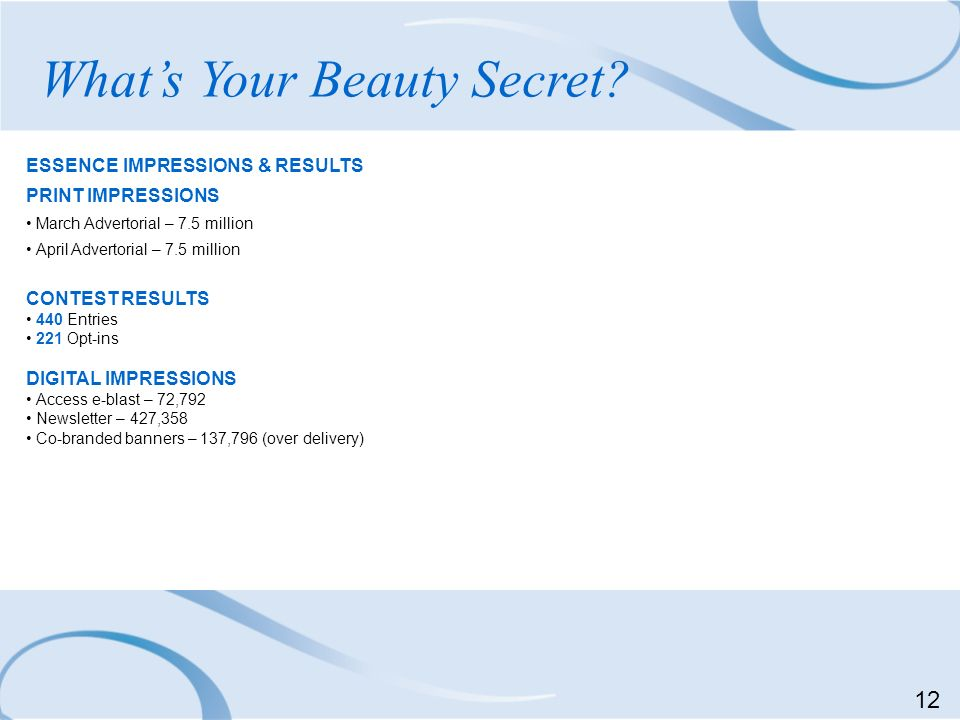 What's Your Beauty Secret