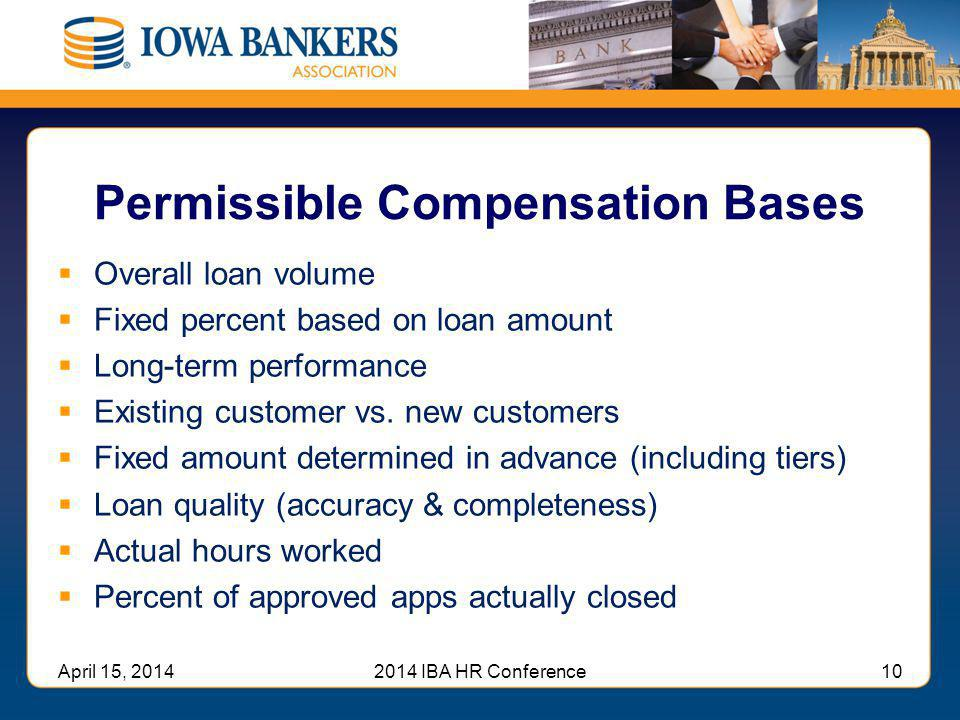 Permissible Compensation Bases