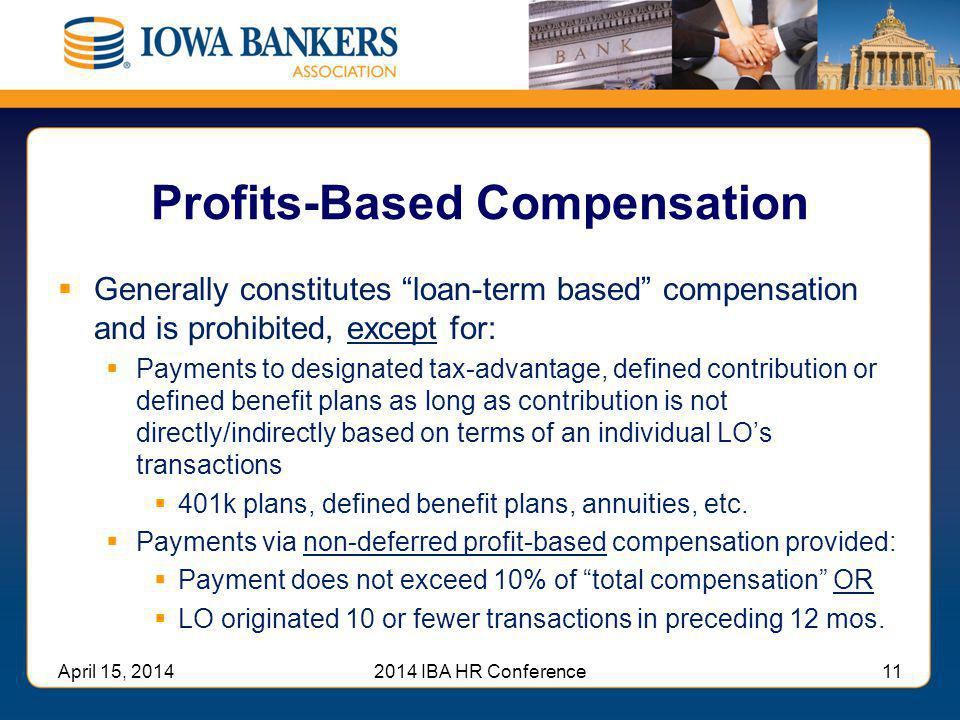 Profits-Based Compensation