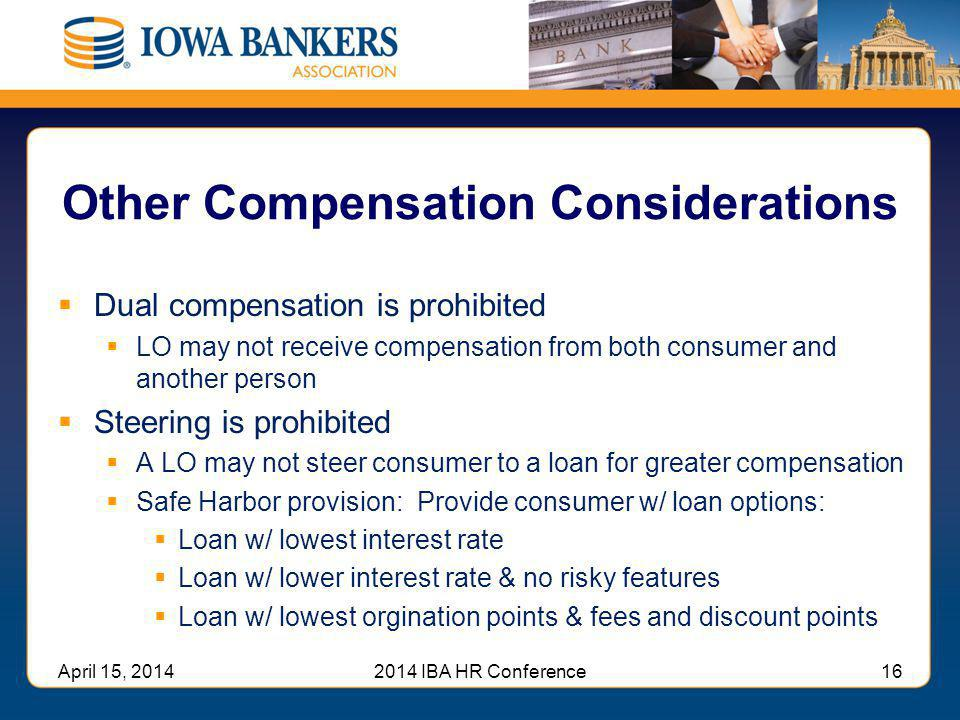 Other Compensation Considerations