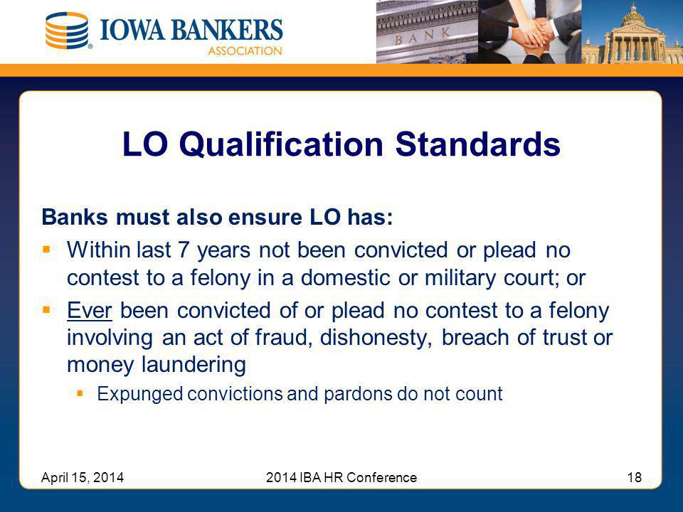 LO Qualification Standards