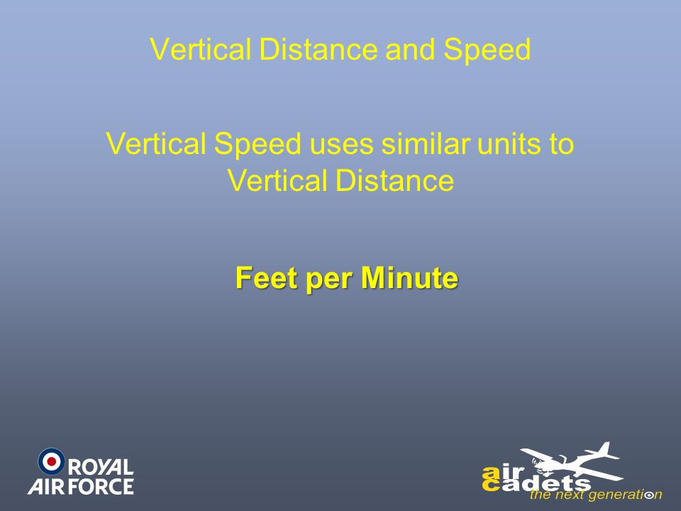 Vertical Distance and Speed