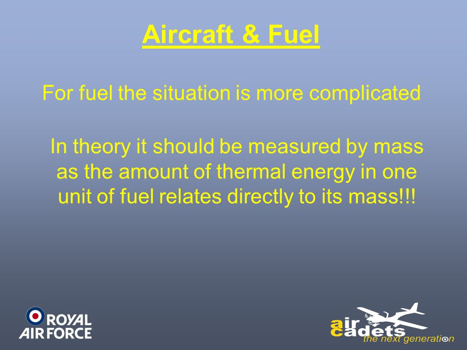 For fuel the situation is more complicated