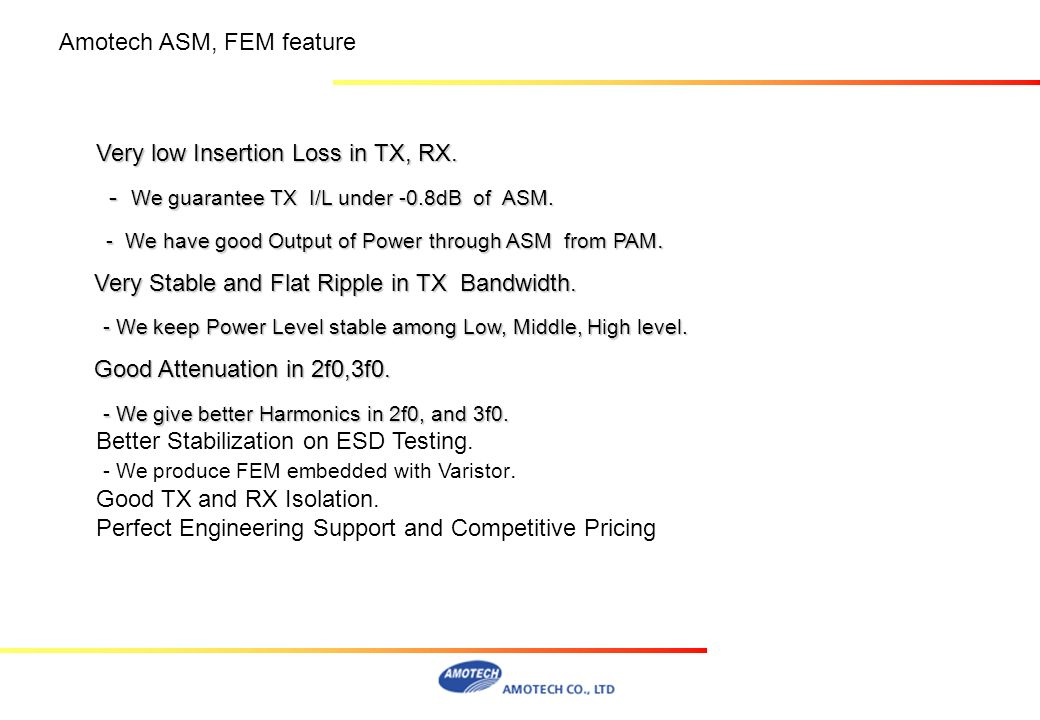 Amotech ASM, FEM feature