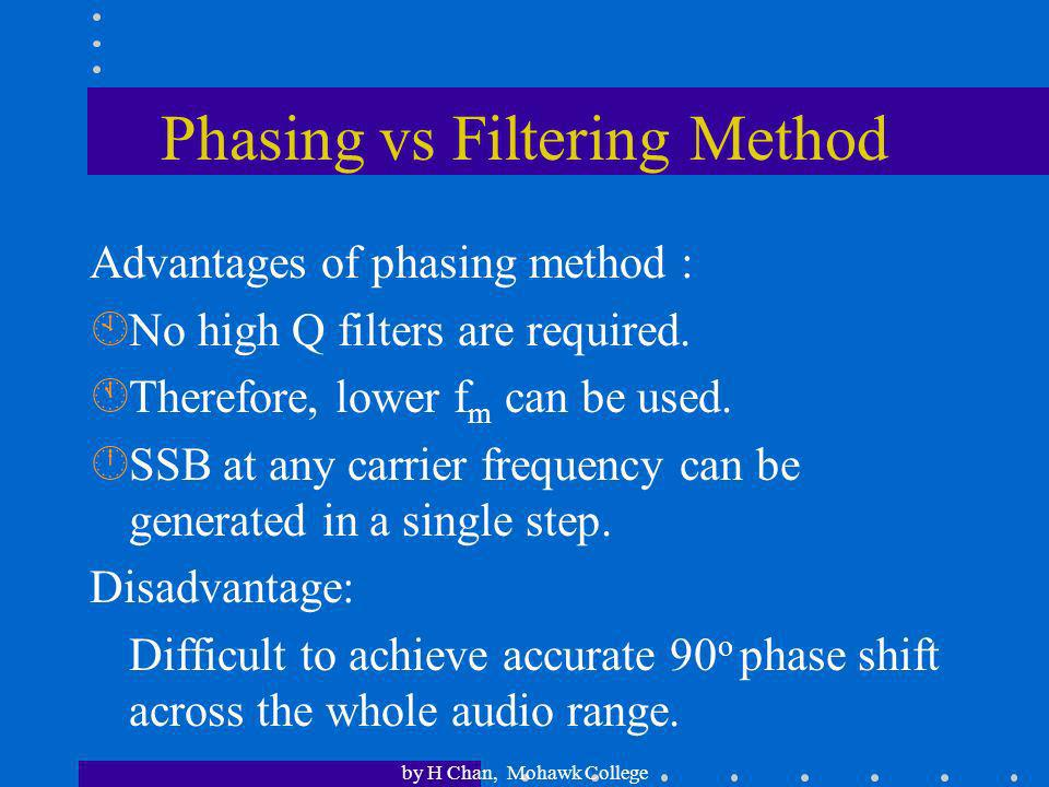 Phasing vs Filtering Method