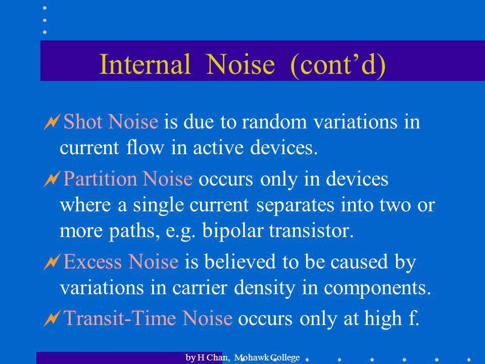 Internal Noise (cont'd)