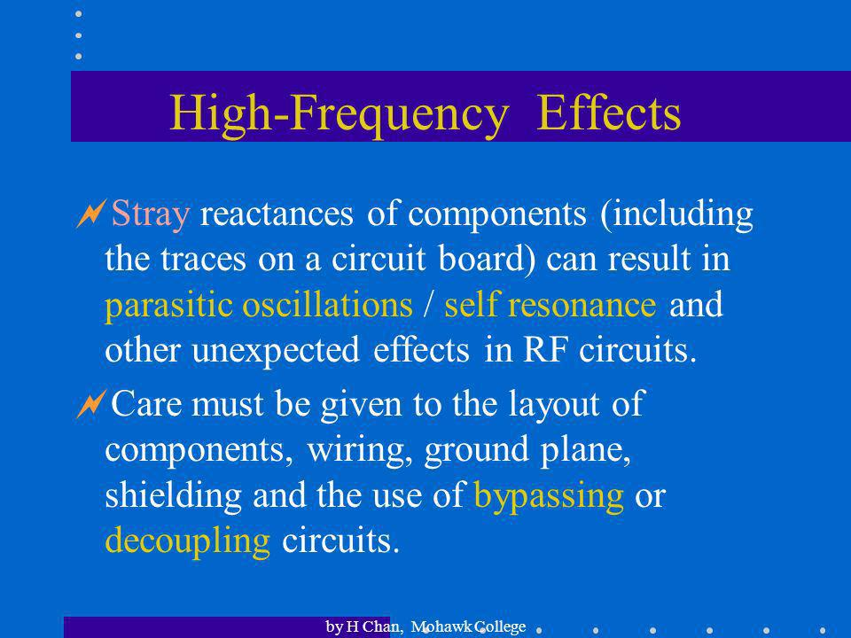 High-Frequency Effects