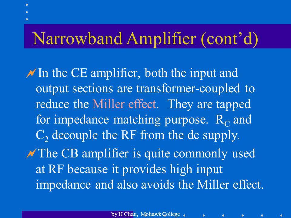 Narrowband Amplifier (cont'd)