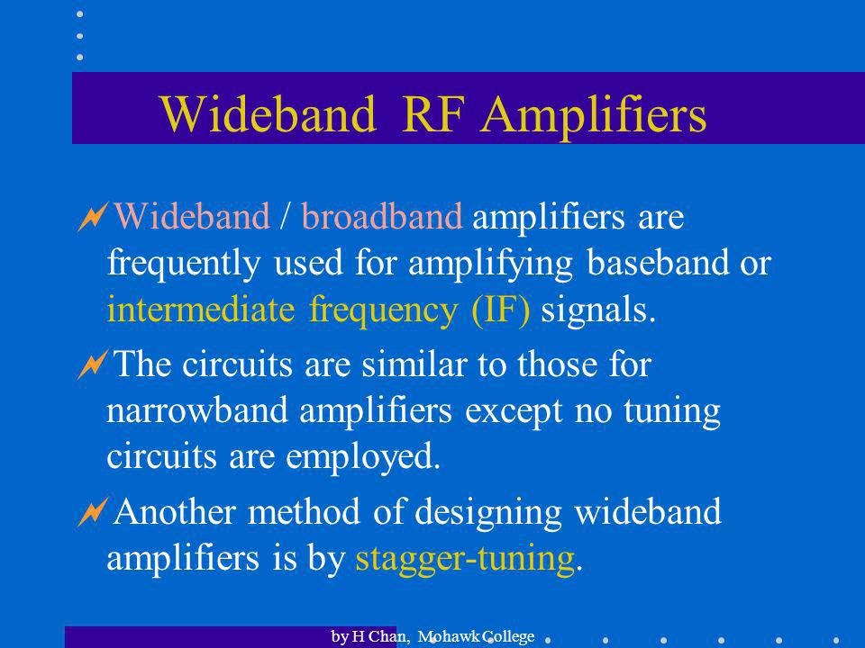 Wideband RF Amplifiers