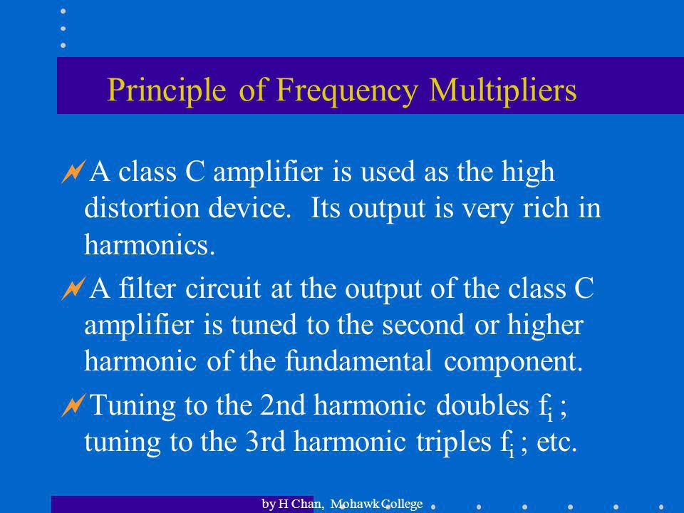 Principle of Frequency Multipliers