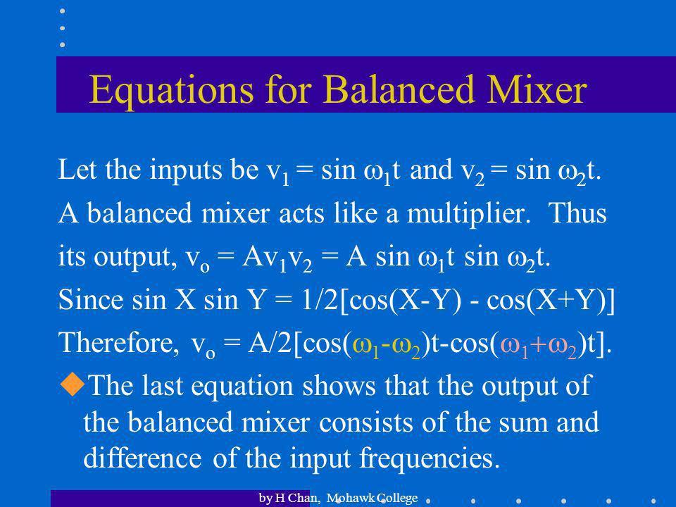 Equations for Balanced Mixer