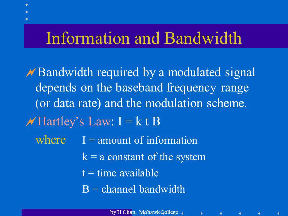 Information and Bandwidth