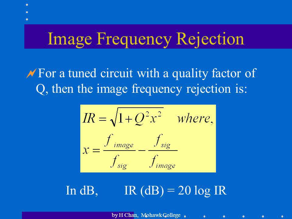 Image Frequency Rejection