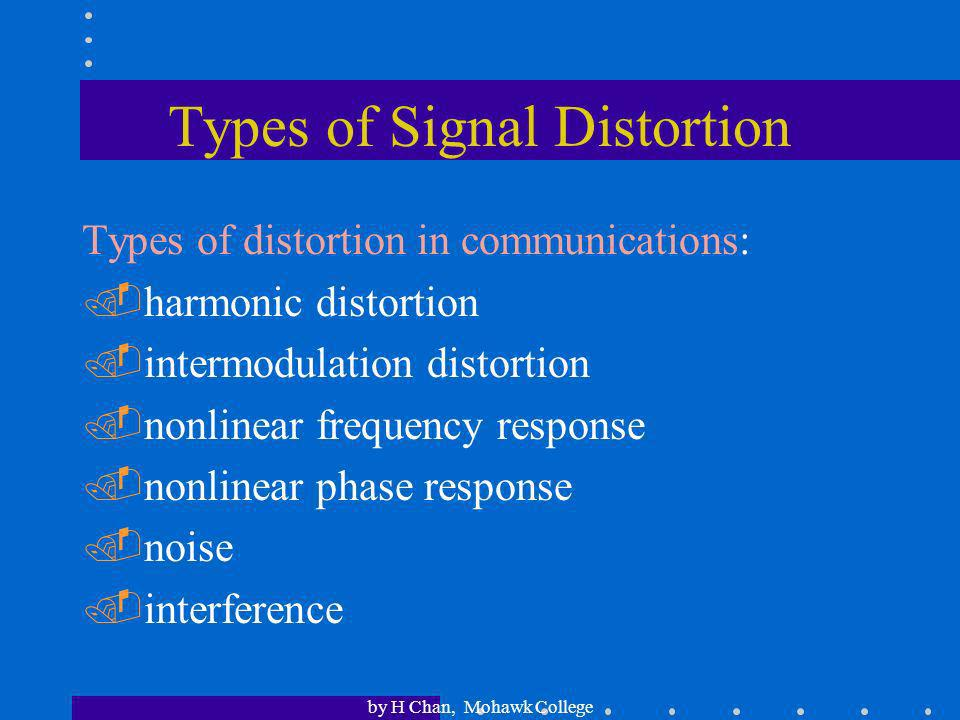 Types of Signal Distortion