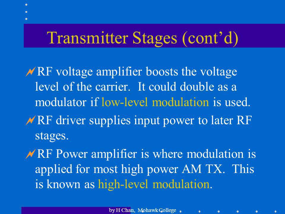 Transmitter Stages (cont'd)