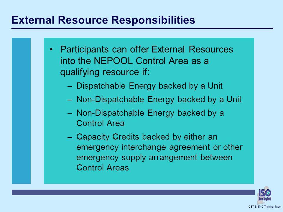 External Resource Responsibilities