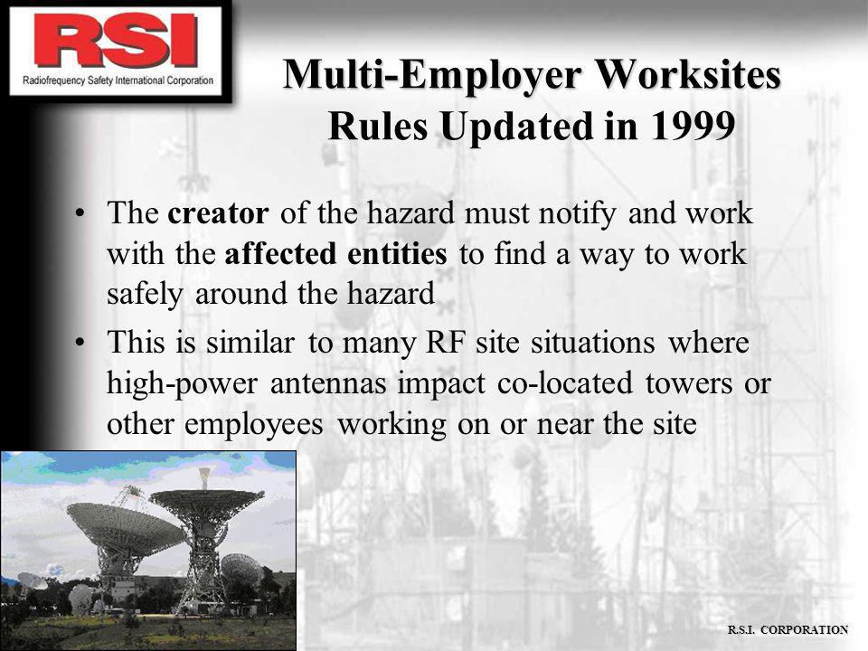 Multi-Employer Worksites Rules Updated in 1999