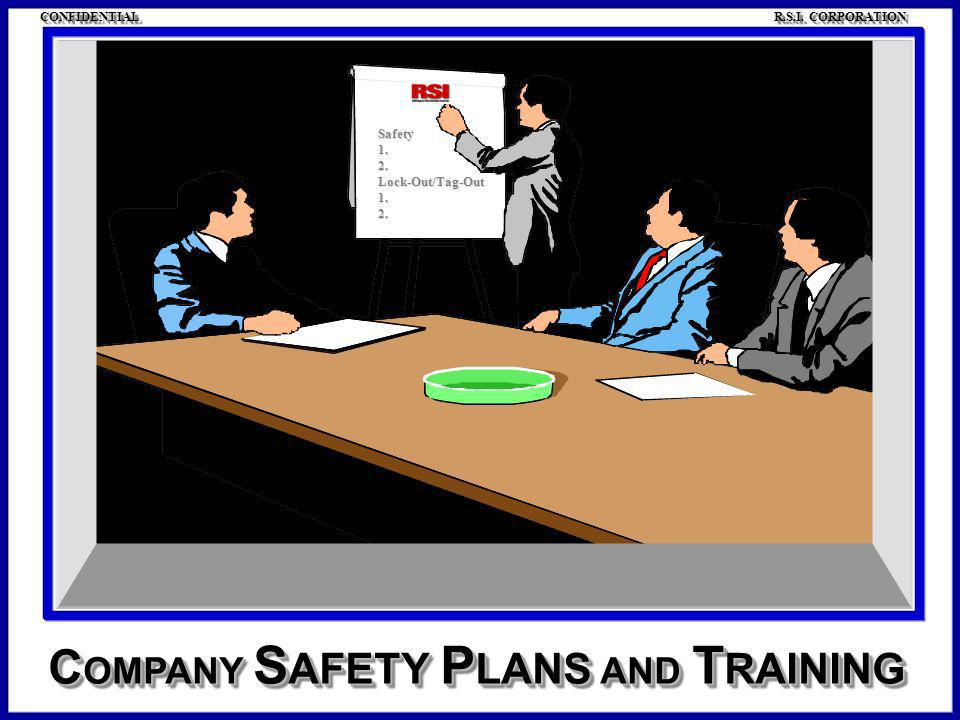 COMPANY SAFETY PLANS AND TRAINING