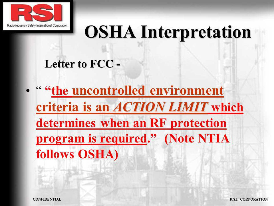 OSHA Interpretation Letter to FCC -