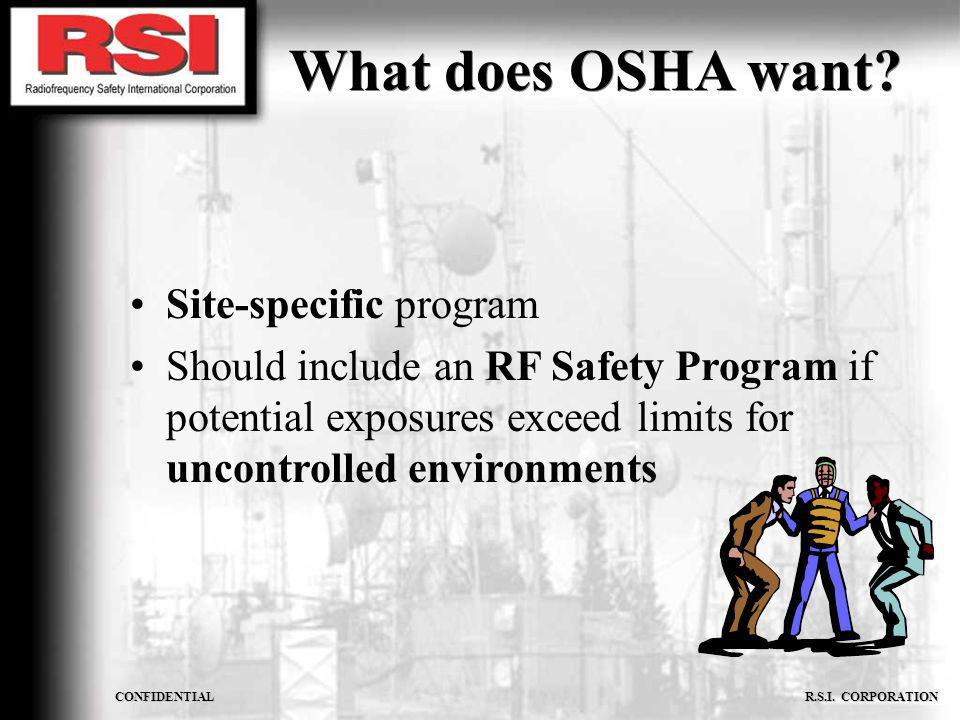 What does OSHA want Site-specific program
