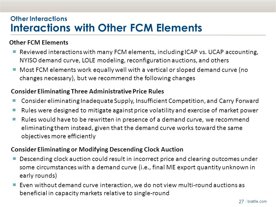 Other Interactions Interactions with Other FCM Elements