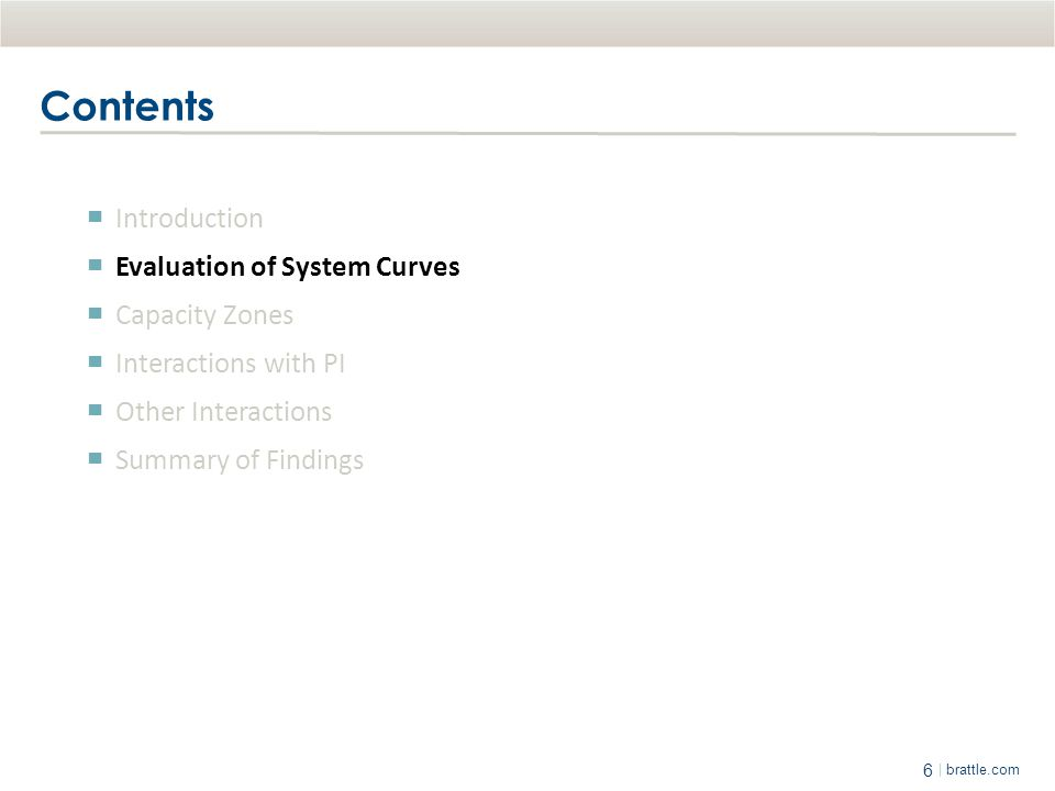 Contents Introduction Evaluation of System Curves Capacity Zones