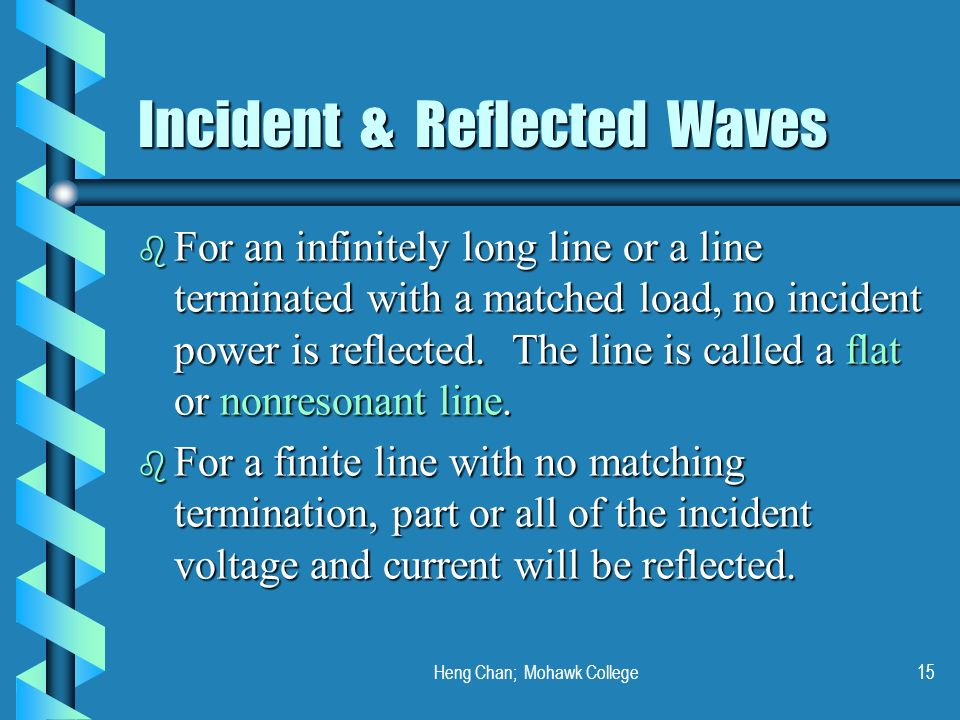 Incident & Reflected Waves