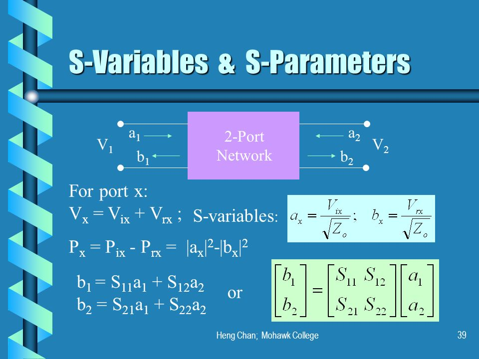 S-Variables & S-Parameters